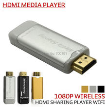 1080P wifi HDMI dongle DLAN media sharing Wireless HDMI sharing media player display mobile PC  to TV DLAN stick free shipping