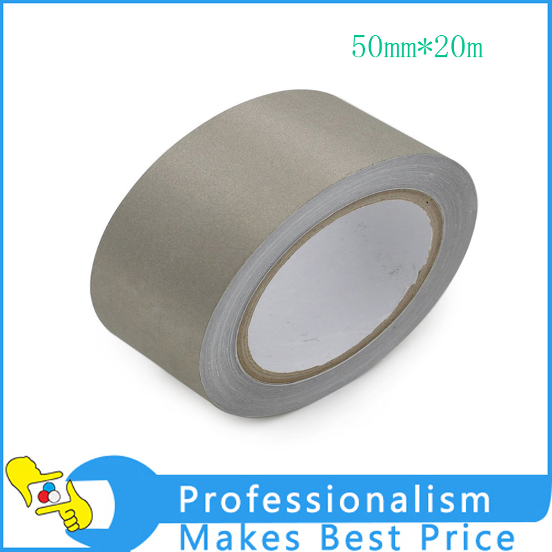 Good quality 1x 50mm* 20 meters Single Sided Adhesive Silver Conductive Fabric Cloth Tape PC, Phone Cable Wraping, EMI Shielding<br>