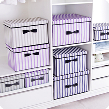 New 3 sizes folding clothes storage box clothes organizer kid toys storage bin Laundry Cupboard storage box desktop organizers(China)