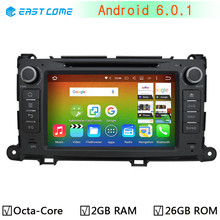 1024*600 Octa Core Android 6.0.1 Car DVD GPS Radio Player For Toyota Sienna 2009 2010 2011 2012 2013 2014 2015 2GB RAM 16G Flash