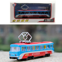 Gift Package Alloy car model Bus service Antenna tram toys for children Exquisite 108 road passenger car(China)