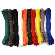 Paracord Parachute Cord Multifunctional 7 Core Lanyard Rope 15M Umbrella Rope Camping Survival Equipment Emergency Climbing