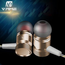 Vrme Fashion Metal Wired Headphone Sport Running Music Eraphone Headset with Microphone for Iphone 6 6s plus Samxung for Xiaomi(China)