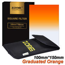 "New Zomei Gradual Orange Square Filter 100*150mm 100mm*150mm Lens Filter for Cokin Z-PRO Series Lee Hitech 4X6"" Holder 100x150mm"