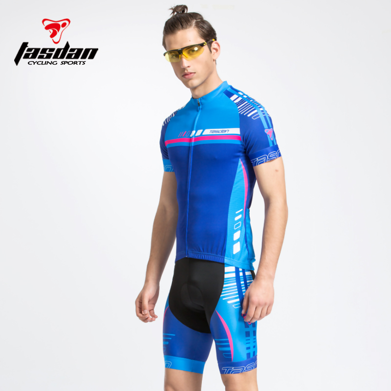 Tasdan 2016 Bike Bicycle Cycling Clothing Cycling Jersey Cycling Shorts Mens Cycling Jersey Sets Blue color High Quality<br>