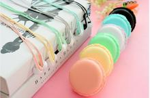 Hot Sale!!! Macarons Design 3.5mm In-Ear Cute Earphones Earbuds Headset For Samsung iPhone iPad HTC SONY MP3 Player