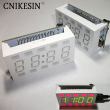 CNIKESIN Simple ideas White desktop electronic clock Mini Clock diy kit 1pcs Diy kit Creative 51 SCM DIY Electronic design suite(China)