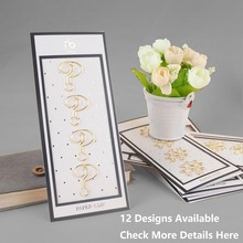 12 Designs 4 pcs/lot Beautiful Fashion Golden Finished Sharp Paper Clips Notebook Accessories for Organizer Planner Page