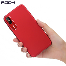 For iPhone X Case, ROCK Luxury Business Style Metal Phone Camera Protection Transparent Case For iPhone X Cover(China)