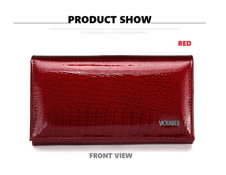 VICKAWEB Genuine Leather Small Wallet Women Wallets Alligator Short Purse Coins Hasp Girls Wallet Fashion Female Ladies Wallets-007