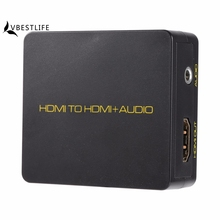 4K Digital HDMI to HDMI Audio Converter Extractor Decoder 1080P black for Blu-ray HD DVD For XBOX