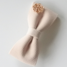 Thick Fabric Hair Bows With Metal Rose Flower Hair Clips For Girls Solid Bow Barrette Hair Accessories For Women High Quality(China)
