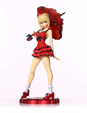 "Fate Stay Night Extra Red Dress Saber Nero 10"" 25cm model Sexy Anime PVC Action Toy Figures"