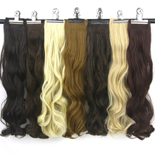 "Soowee 24"" High Temperature Fiber Synthetic Women Hairpiece Black Blonde Curly Clip In Hair Extension"