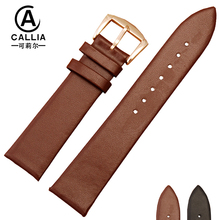 16mm 18mm 20mm Fashion Cow Leather Watchbands For Movado Daniel Wellington DW Leather Watch Band Buckle Wristwatch Strap Belt(China)
