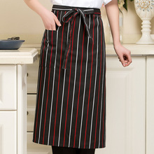 1Pcs Unisex Kitchen Cooking Hotel Chef Aprons Chef Uniforms Waist Apron Multicolor Apron for Women Men(China)