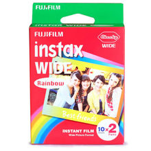 High qulaity Original Fuji Fujifilm Instax Instant Wide Film 20 Rainbow Sheets For 300 200 210 100 500AF free shipping
