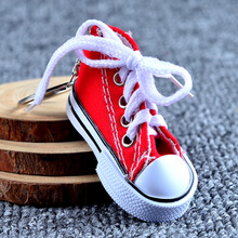 Fashion Keyring Canvas Shoes Keychain for Charm Women Car and Shoulder Bag Purse KeyChains Mobile Phone Accessory Pendant