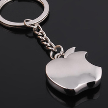Novelty Souvenir Metal Apple Pendant Key Chain Creative Gifts Solid High Polished Apple Shaped Keychain Key Ring holder
