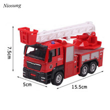 2017 New Back In The Toy Car The Fire Truck Toy Car Kids Children Christmas Birthday Present(China)