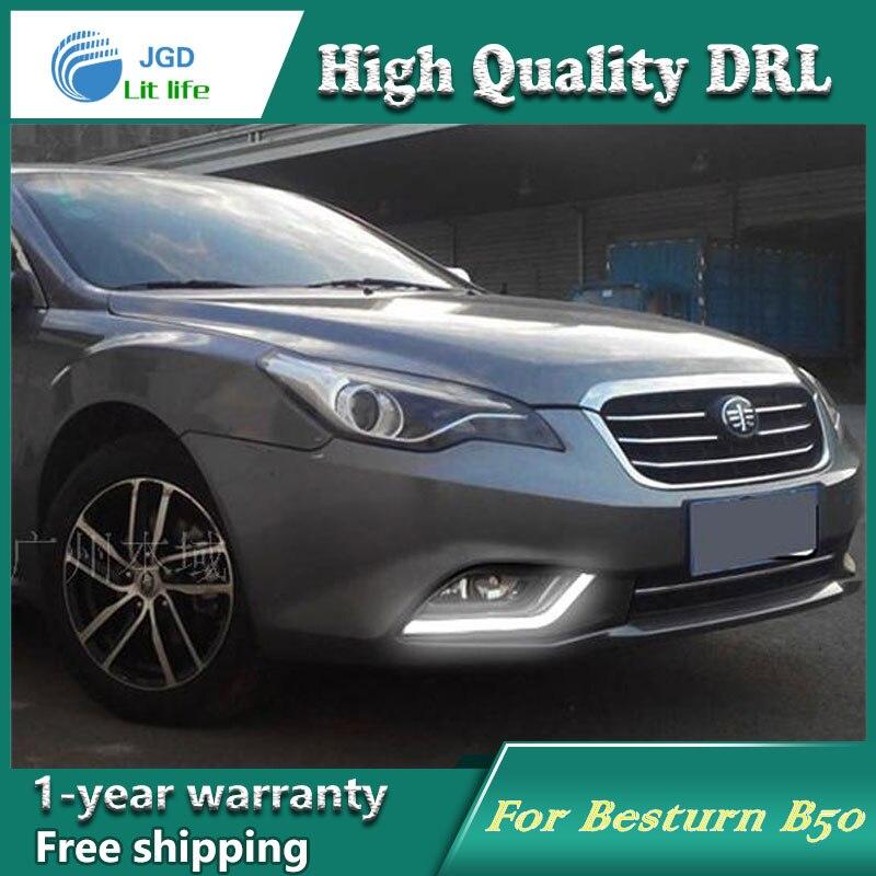 Free shipping !12V 6000k LED DRL Daytime running light case for Besturn B50 2013-2015 fog lamp frame Fog light Car styling<br><br>Aliexpress