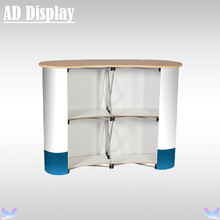 High Quality Curved Pop Up Promotion Table,Trade Show Booth Advertising Pop Up Counter Display(Not Include Banner)