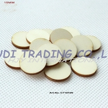 (200pcs/lot) 15MM blank cutout circle wood disks crafts earrings bulk wooden pieces ornaments -CT1074N(China)