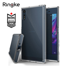 Ringke Fusion Case for Sony Xperia XZ Case Crystal Clear PC Back Cover and Soft TPU Frame Hybrid Xperia XZS Cases(China)