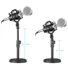 Neewer Desktop Condenser Microphone for Windows Computer and Mac for Studio Broadcast Recording Audio Cable Table Stand ETC(China)