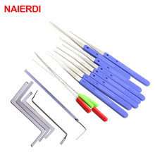NAIERDI Locksmith Tools Broken Key Remove Auto Extractor Set Stainless Steel Wrench Row Tension Removal Hooks Lock Kit Hardware