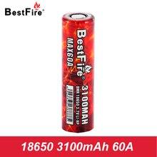 Bestfire 18650 Rechargeable Battery Li-ion 3100mAh 60A Battery 18650 SMOK Vaporizer Mod E Cigarette Alien iStick Pico A128