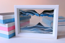 a Stall selling crafts boutique creative gifts 3D art decoration painting blue black and white sand(China)