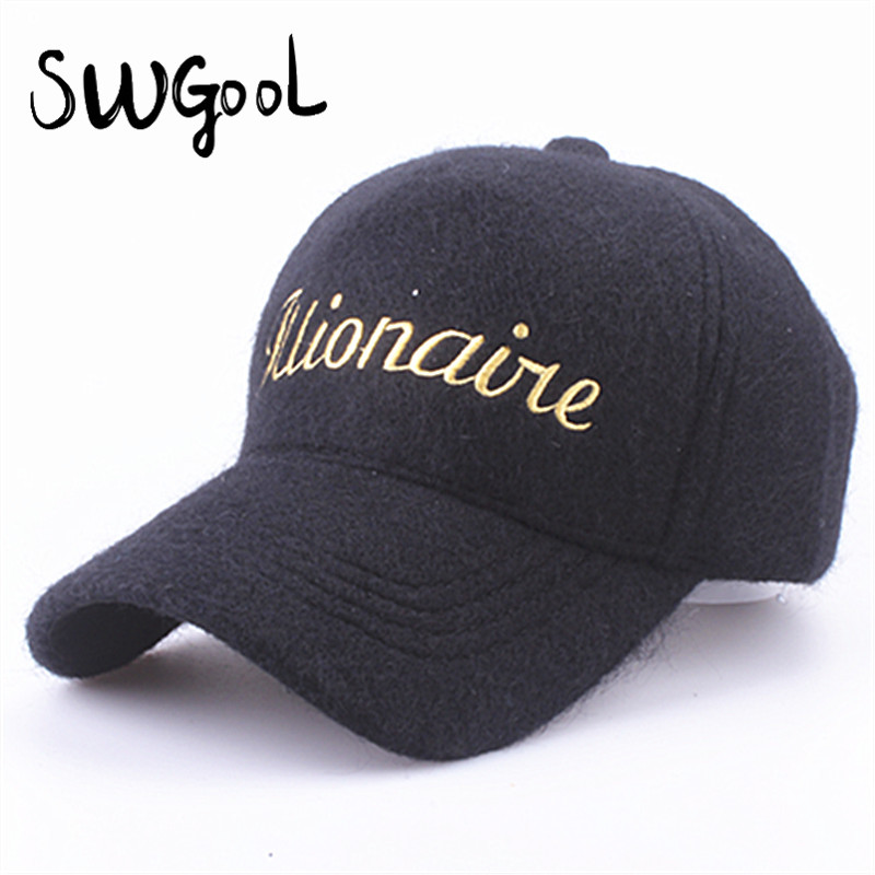 SWGOOL Baseball Caps 2017 new fashion high quality winter hat cap for women and men cashmere hats snapback hats free shipping<br><br>Aliexpress