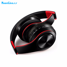 MoonlinessNew Arrival colorful stereo Audio Mp3 Bluetooth Headset Foldable Wireless Headphones Earphone support card with Mic(China)