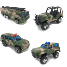 4pcs/lot Die cast Metal +ABS Car Toy Military Vehicles Model Toys for Children Kids Brinquedos(China)