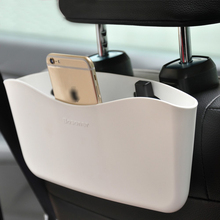 White Car Auto Seat Pocket Catcher Organizer Shelves Cellphone Tablet Stand Storage Box New Hot Sale Universal (0257)