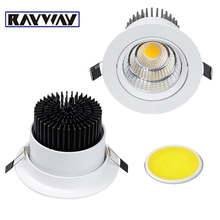 11.11 Wholesale 20PCS/LOT Ladder reflector Recessed COB Down Lamp Dimmable LED ceiling Light Down Light Plafonnier(China)