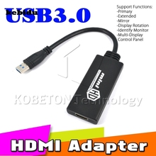kebidu New Arrive USB 3.0 To HDMI Adapter Mini HD 1080P Video Cable Adapter Converter For PC Laptop(China)