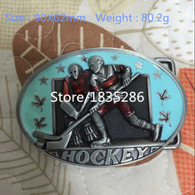 Retail & Wholesale 2015 New Arrival Hot Selling Cool 3D Fashion sport ice hockey metal belt buckle For 4cm/1.57in Wide Belt