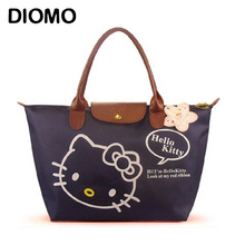 DIOMO Hello Kitty Waterproof Large Beach Bag for Women's summer bag foldable big shopping bag multipurpose female sac(China)