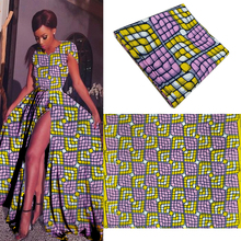 lilac ankara african wax print fabric 2017 african wax prints fabric super wax hollandais high quality soft 100% cotton 6 yards