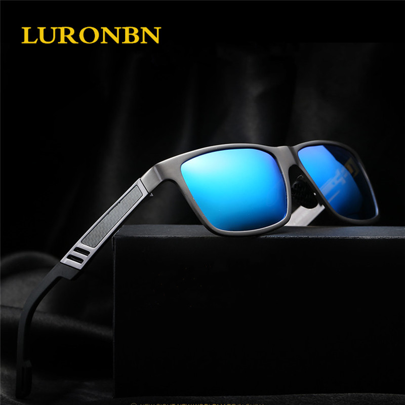 LURONBN Aluminum magnesium Polarized Sunglasses Men Colorful lens glasses oculos de sol masculino Outdoor driv Eyewears 6560<br><br>Aliexpress