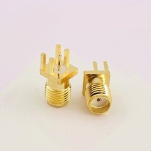 10pcs SMA Female connector 1.6mm PCB Mount SMA RF Connector Free shipping