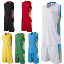 Top colleage basketball jersey suit men jogging running sets basketball kits customized team training sporting uniforms for men