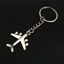 2016 Personality Purse Car Plane Pendant for Women Men US Airlines Model Plane Keychain Airplane Key Chain Ring Aircraft Keyring