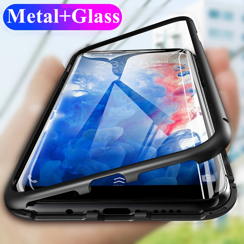 Magneto Magnetic Adsorption Metal Glass Case for Samsung Galaxy S8 Plus Cases Cover for Samsung Galaxy S9 Plus S7 Note 8 9 Case(China)