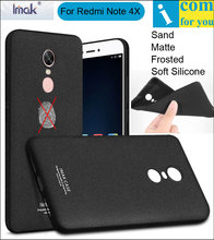 imak Frosted Sand Case Cover For Xiaomi Redmi Note 4X TPU Silicone Matte Skin Protector Anti-fingerprint + Soft film