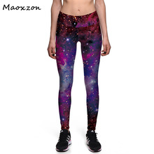 Buy Maoxzon Womens Galaxy Printed Slim Fitness Leggings Pants Female Fashion Workout Active High waist Elastic Skinny Trousers for $10.13 in AliExpress store