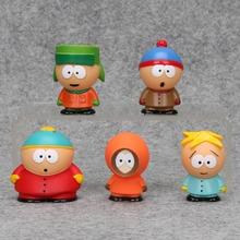 5Pcs/set South Park Action Figure toys 6cm Stan Kyle Eric Kenny Leopard Mini PVC Dolls Collectible Model Toy Kids Christmas Gift(China)