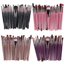 Professional Cosmetic 20PCS Make Up Brushes Plastic Handle Nylon Brush Basic Eyebrow Eyeshadow Mascara Lip Brushes